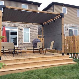 Pergola Kit With Shade Sail For 4x4 Wood Posts Outdoor Pergola Patio Shade Backyard Shade