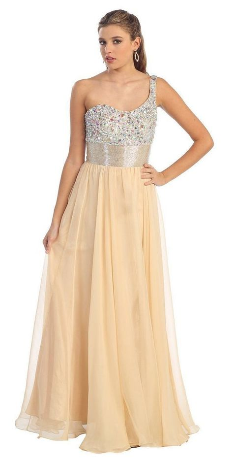 937c89359501 One Shoulder Prom Plus Size Formal Special Occasion Dress - The Dress Outlet  - 11