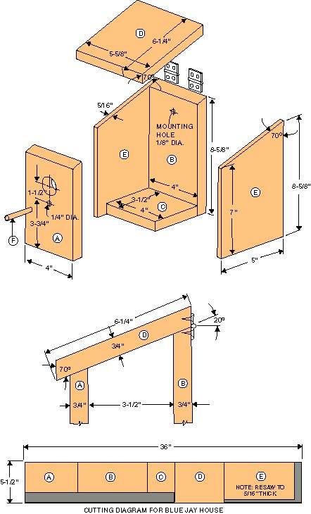 plans for decorative birdhouses | free and simple birdhouse wood