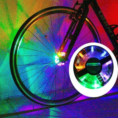 Odoland Led Bike Wheel Lights Spokes Rims Safety Warning Light