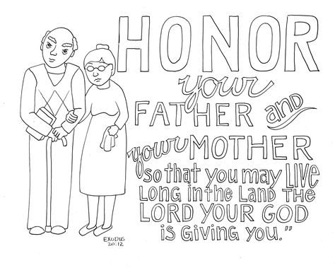 #coloring #honor #pages #parents #your #2020