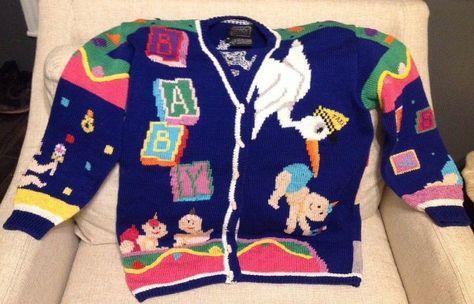 268a54179fb34 VINTAGE BEREK MARTA D 1989 BABY SWEATER CARDIGAN LADIES SIZE MED  Berek   CardiganSweater