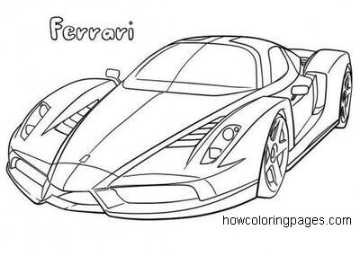Printable Ferrari Coloring Pages For Kids Yaris Arabasi Araba Boyama Sayfalari