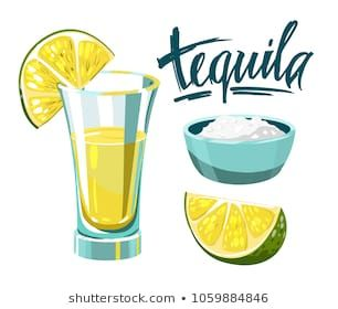 Tequila Shot With Lime And Salt Vector Illustration Tequila Tequila Shots Illustration