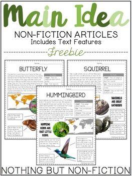 Main Idea Reading Passages: Spring Animals |FREEBIE|