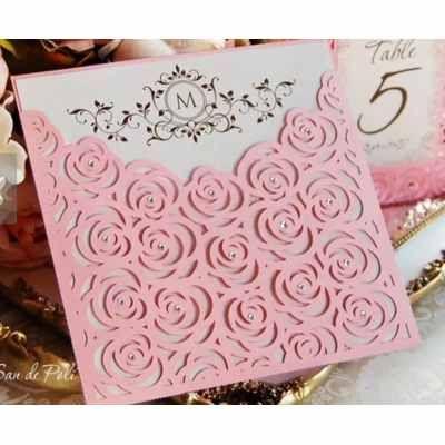 Invitaciones Tarjetas 15 Años Casamientos Caladas Rosas X80