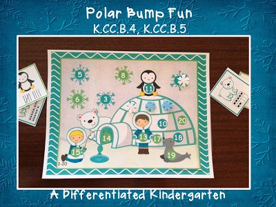 """""""Polar Bump Fun"""" (Tally Marks & Ten Frame Cards)"""