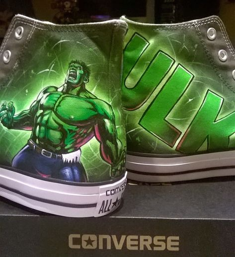 eddeeeb1b255 the Hulk custom hand painted Converse shoesthe Hulk converse