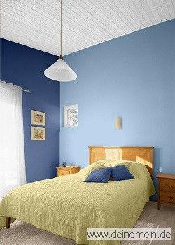 Farbgestaltung Für Ein Schlafzimmer In Den Wandfarben: Sky   Niagara   My  Sunrise | Farbgestaltung   Schlafzimmer | Pinterest