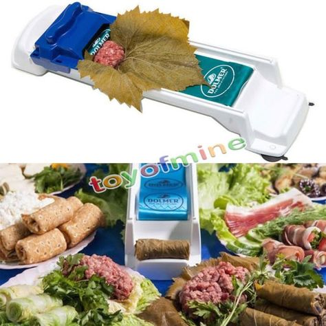 1X Food Roller Meat Sushi Vegetable Rolling Tool Stuffed Leaf Roll Maker