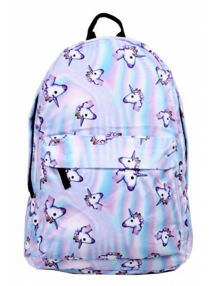 School Backpack For Teenager Cartoon Unicorn Printed Bookbag Travel Rucksack New