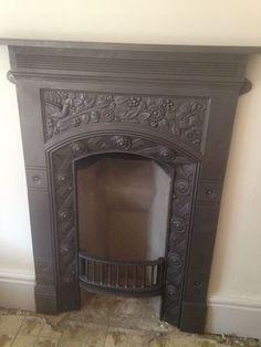 Small Victorian cast iron bedroom fireplace   Victorian   Pinterest ...