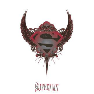 Superman Stylized Skull And Wings Logo Superman Tattoos Superman Coloring Pages Superman