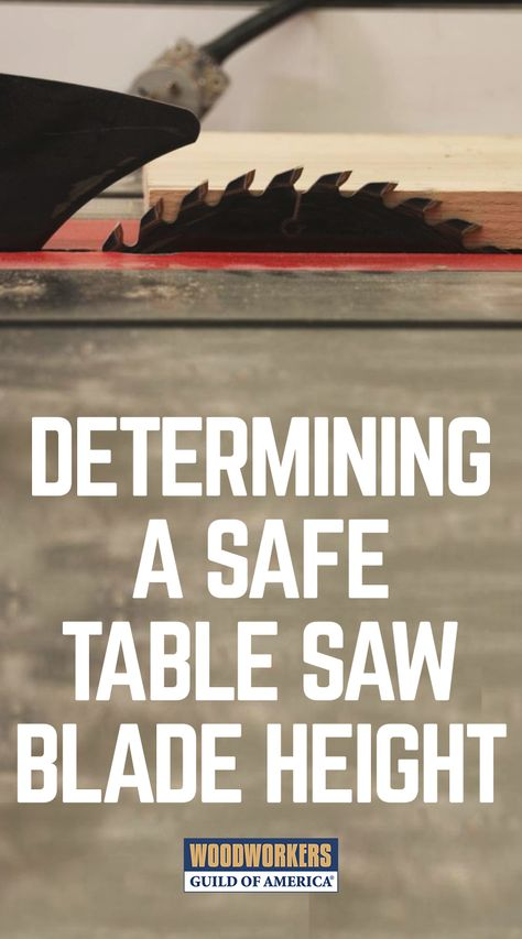When it comes to blade changes and using a table saw, especially using it safely, there's more to it than just putting the blade on and making a cut. It's very important that the table saw blade height is correctly set. It's easy to do, only takes a second, will help keep you safer on the table saw, AND help your blade cut better.