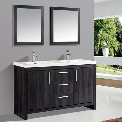 Orren Ellis Peiffer 59 Double Sink Bathroom Vanity Set With