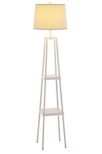 Catalina 19305 000 3 Way 58 Inch Etagere Floor Lamp With Distressed Iron Paint Lamp Metal Floor Lamps Floor Lamp With Shelves