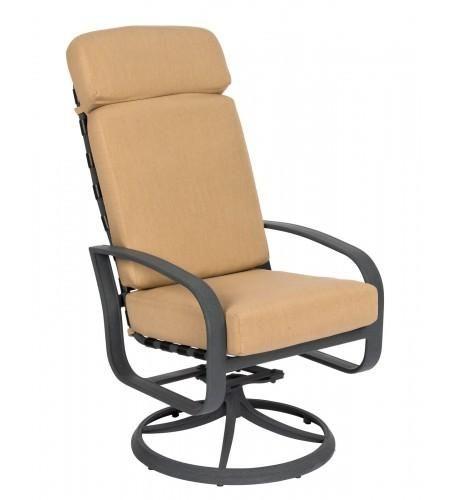 Cayman Isle Cushion High Back Swivel Rocker Dining Arm Chair Item 2e0488 Swivel Rocking Chair Rocking Chair Rocking Chair Porch High back swivel rocker patio chairs