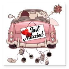 Auto Hochzeit Einladung Zeichnung Just Married Auto Png