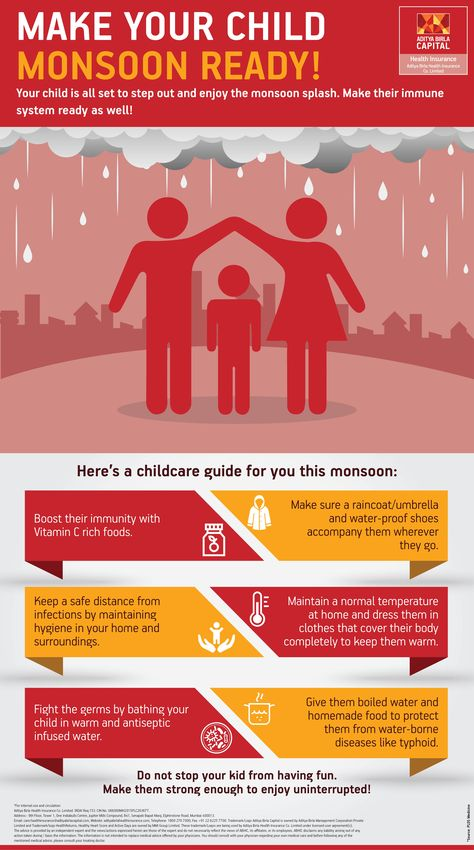 Child Care in Rainy Season : 6 Health Tips For Kids In