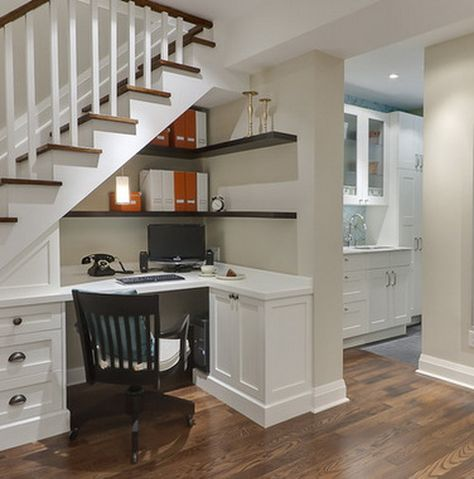 Turn your under the stairs storage cupboard into a smart home office - this is one of the best ways to use the small space - this design is amazing