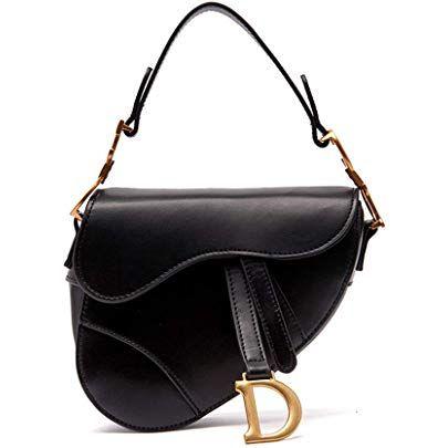 La Festin Ladies Designer Crossbody Purses With Wide Shoulder Strap Trendy D Shape Leather Saddle Bags For Leather Saddle Bags Purses Crossbody Dior Saddle Bag