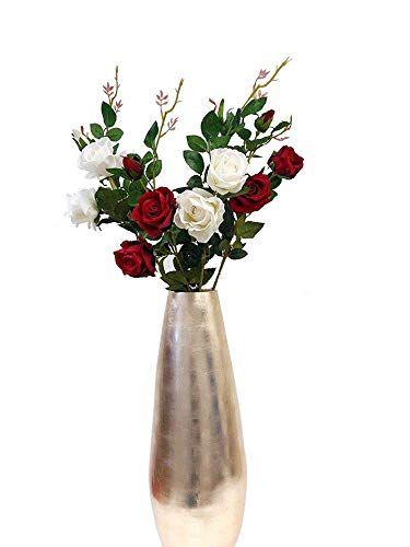 Marjon Flowerslarge Artificial Flowers Fake Flower 2 Head 1 Bud Rose Spray Bouquet Decor Uk Stock B301 White Silk Flower Arrangements Amazon Flowers Artificial Flowers Reception Centerpieces Diy