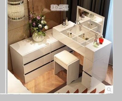 Wooden Small Makeup Dressing Tables For Small Dressing Table