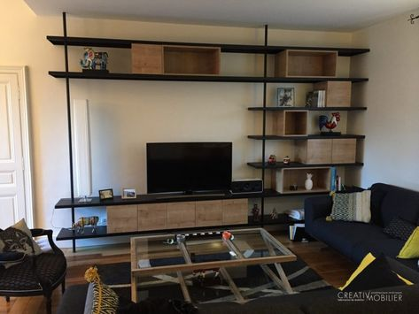 Bibliotheque Tv Mobilier Architecture Design Deco Metal Angers Madeinfrance Meuble Living Meuble Tv Bibliotheque Tv