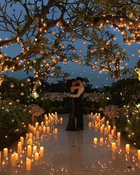 LuxeBrideGuide (luxebrideguide) photos and videos All the magic garden vibes Via: nefi.decor Couple: and reisams Design: nefiantosetiono Official photographer ppfphoto stanleyallan Videographer renryan_ Stylist iamdewiutari Taken with iPhone . Wedding Scene, Wedding Night, Wedding Ceremony, Our Wedding, Dream Wedding, Magical Wedding, Night Beach Weddings, Wedding With Lights, Outdoor Wedding Lights