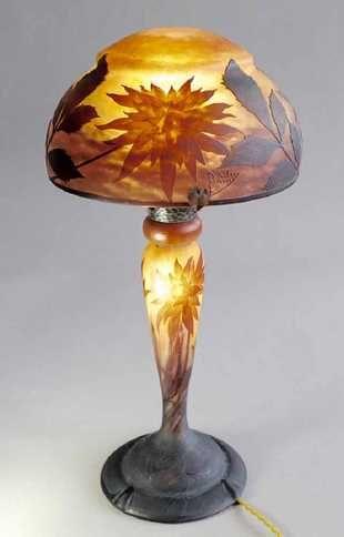 Daum Table Lamp Antique Lamps Lamp Electric Lamp