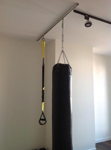 Trx Heavy Bag Mount Gym Room At Home Gym Room Gym Decor