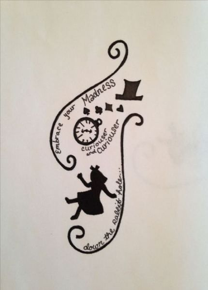52 New Ideas For Quotes Tattoo Sleeve Alice In Wonderland Alice And Wonderland Tattoos Wonderland Tattoo Alice In Wonderland Drawings