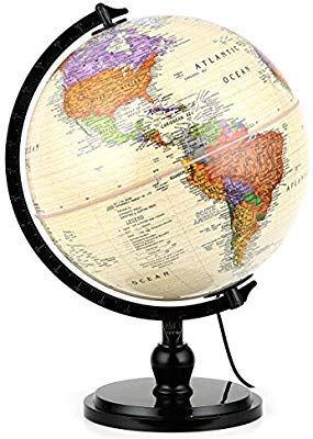 Amazon Com Illuminated Antique World Globe 10 25 Cm Diameter