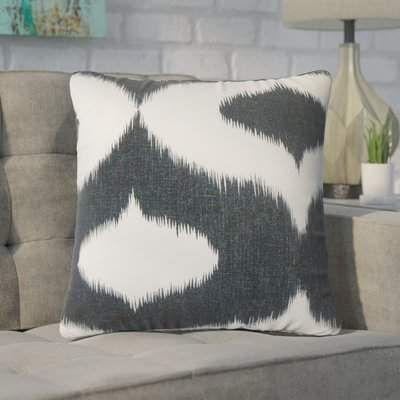 Brayden Studio Willowridge Ikat Cotton Throw Pillow Throw Pillows Designer Throw Pillows Floral Throw Pillows