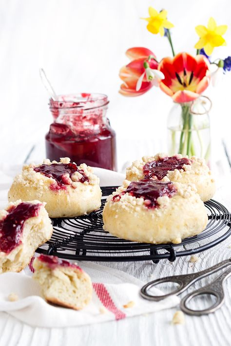 Jam Cheese Cake Yeast Balls // Marmeladen-Käsekuchen-Hefetaler • from Maras Wunderland