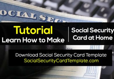 How To Make Fake Social Security Card Ssc Generator Social Security Card Id Card Template Card Template
