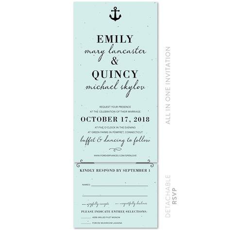 Marine Blue (plantable) in 2019 | Wedding ideas | Nautical wedding invitations, Blue wedding invitations, Blue wedding stationery