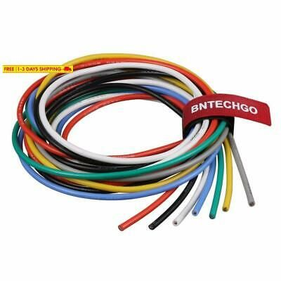 Ad Ebay Bntechgo 14 Gauge Silicone Wire Kit Ultra Flexible 7 Color High Resistant 600v 2 Wire Gauges Flexibility
