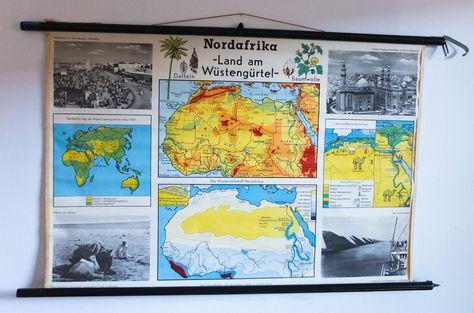 Nordafrika Rollkarte Schulwandbilder Schulbilder Afrika