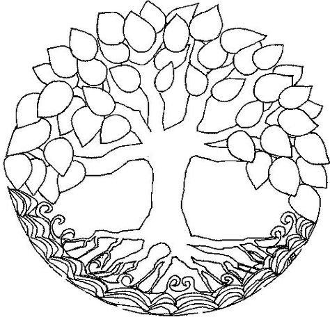 mandala - on the trunk, represent your most lovable inner self; in the roots, represent how you care for yourself spiritually and emotionally; in the leaves, represent how you care for yourself physically; write an explanation of your mandala when done. Mandala Art, Mandala Coloring, Colouring Pages, Coloring Books, Parchment Craft, Tree Patterns, Free Mosaic Patterns, Mandala Pattern, Craft Patterns