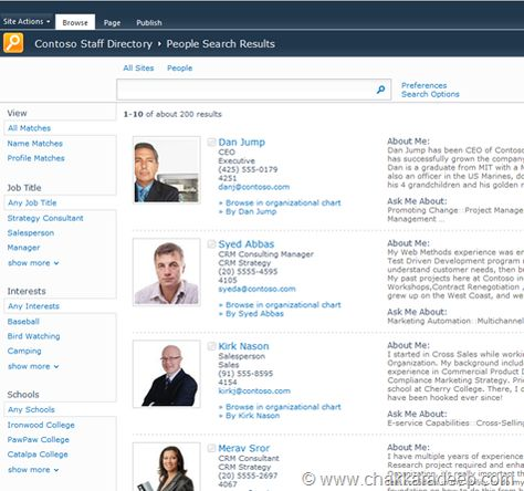 Put People First Building A Staff Directory Staff Directory