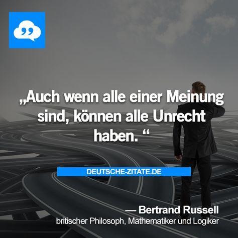 Bertrand Russell Deutsche Zitate Weisheiten Sprüche Und