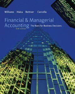 Financial And Managerial Accounting Williams Haka Bettner Carcello 16th Edition Solutions Manual Managerial Accounting Accounting Books Bank Financial