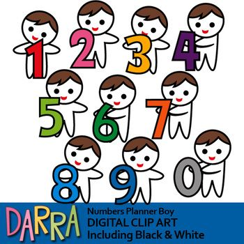 Numbers Clipart Boys With Numbers Clip Art