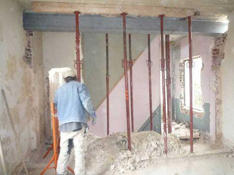 5 étapes pour casser un mur porteur en toute sécurité Cuisine - poutre pour mur porteur