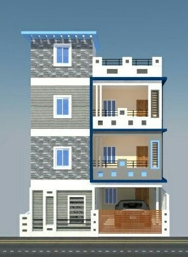 Modernes Haus Elevation Design Von Dreieck Visualizer Team Alle Dekoration Arsitektur Rumah Desain Rumah Rumah Minimalis