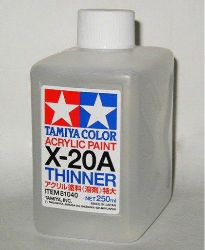 Tamiya Acrylic Paint Thinner X-20A 250ml Item 81040 -s7170