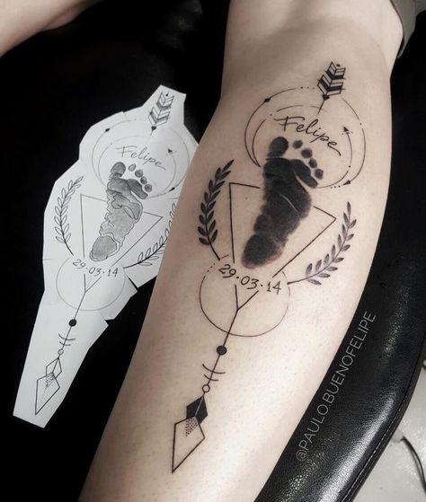 Footprint tattoo of a baby's foot   - Tattoos