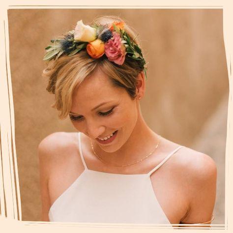 Beautiful Bridal Hairstyles for Short Hair - Short and Sweet Bridal Hairstyles - Photos