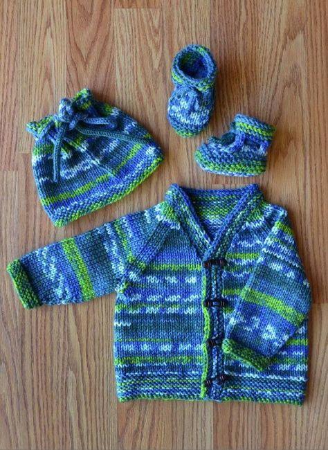 Knitting por correo Cochecito de Bebé Kit Completo Con Lana Y Tejer patrón